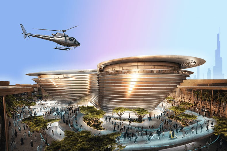 Helicopter tour with FREE Expo 2020 Ticket