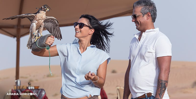 Private Interactive Falconry with Breakfast in Al Maha